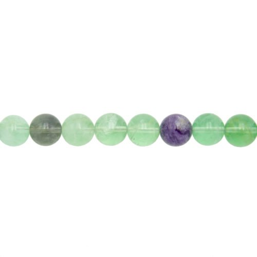 Multicoloured Fluorite Line - 12 mm Bead