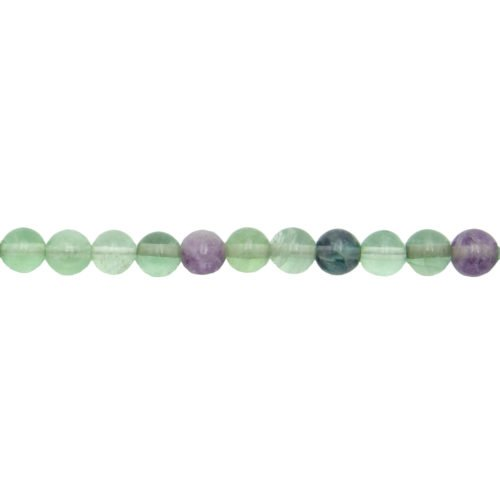 Multicoloured Fluorite Line - 6 mm Bead