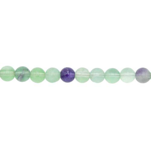 Multicoloured Fluorite Line - 8 mm Bead