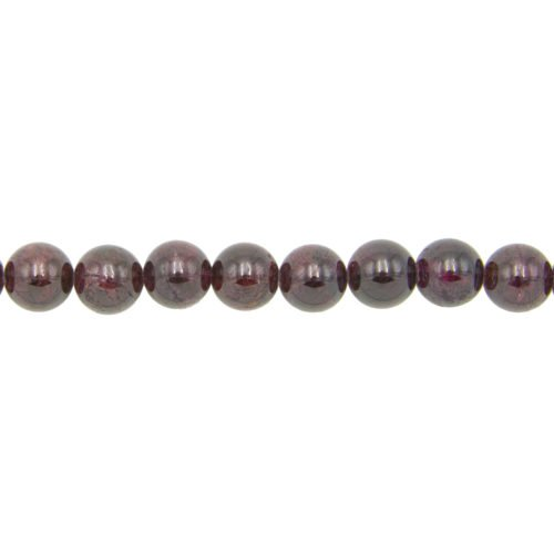 Red Garnet Line - 12 mm Bead