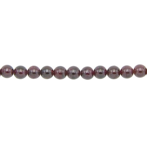 Red Garnet Line - 6 mm Bead