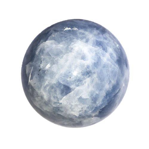 Blue Calcite Bead - 60 mm