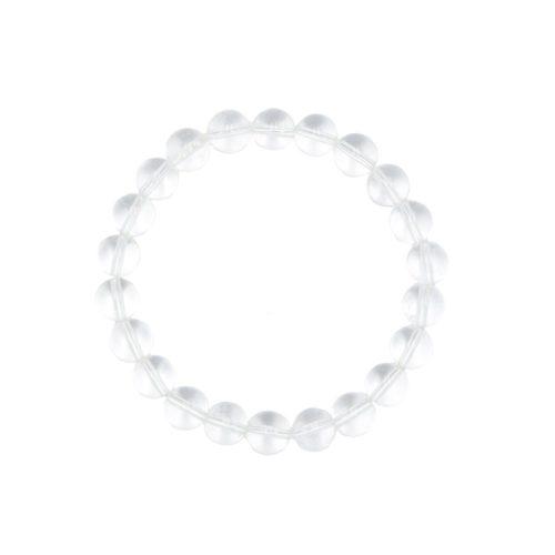 Rock Crystal Bracelet - 8 mm Bead