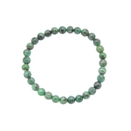 Emerald Bracelet - 6 mm Bead