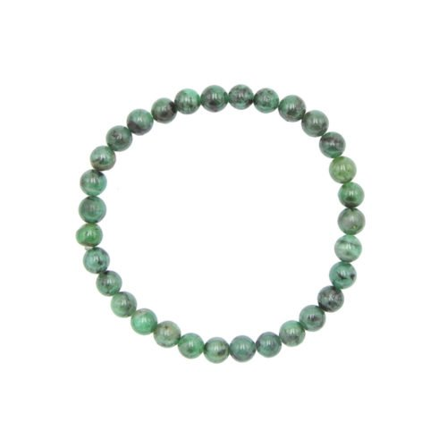Emerald Bracelet - 6 mm Bead