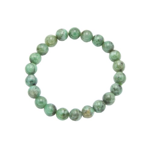 Emerald Bracelet - 8 mm Bead