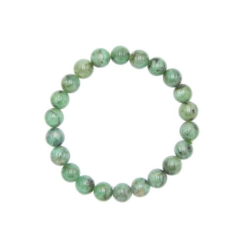 Emerald Bracelet - 8 mm Bead
