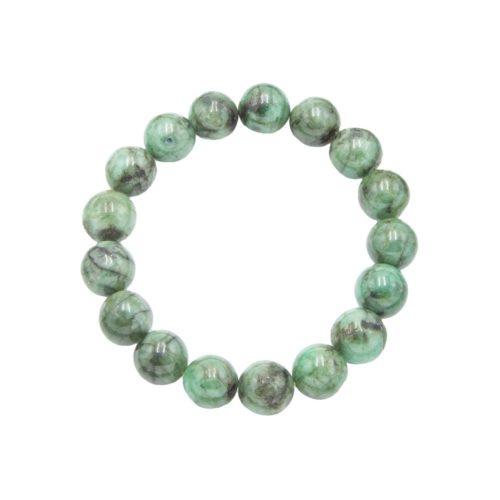 Emerald Bracelet - 12 mm Bead