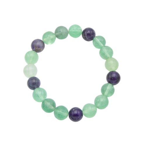 Multicoloured Fluorite Bracelet - 10 mm Bead