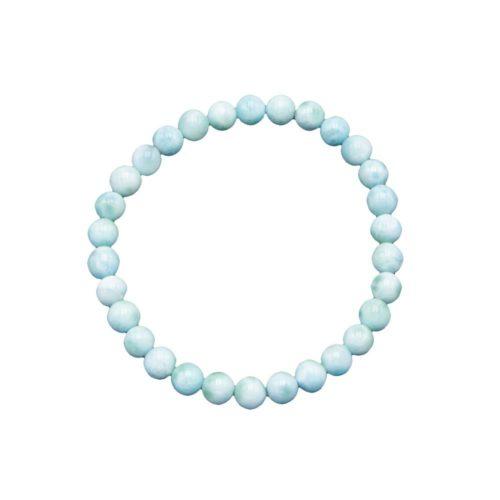 Larimar Bracelet - 6 mm Bead