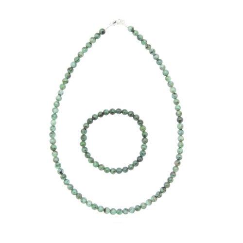 Emerald Gift Set - 6 mm Bead