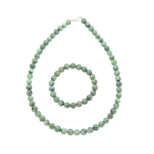 Emerald Gift Set - 8 mm Bead