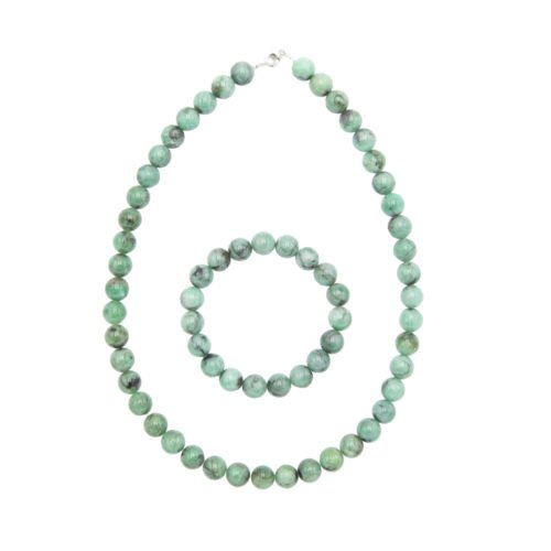 Emerald Gift Set - 10 mm Bead
