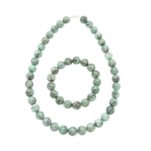 Emerald Gift Set - 12 mm Bead