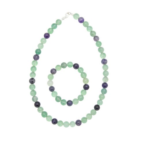 Multicoloured Fluorite Gift Set - 10 mm Bead