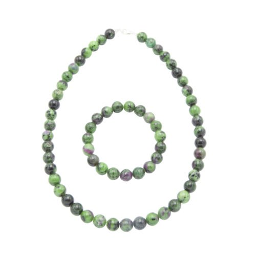 Ruby with Zoïsite Gift Set - 10 mm Bead