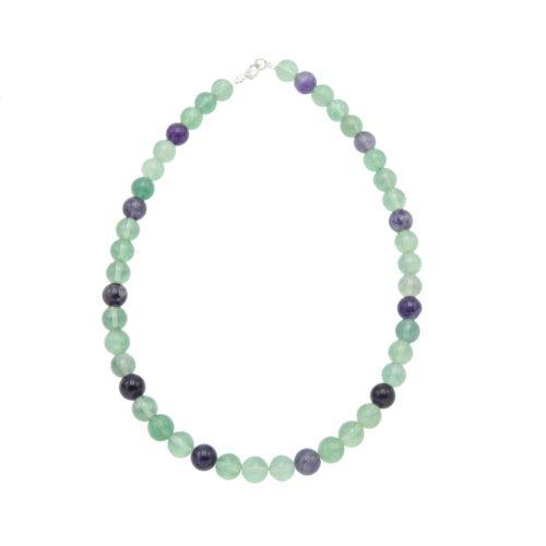 Multicoloured Fluorite Necklace - 10 mm Bead