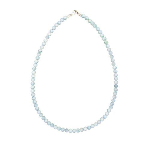 Larimar Necklace - 6 mm Bead