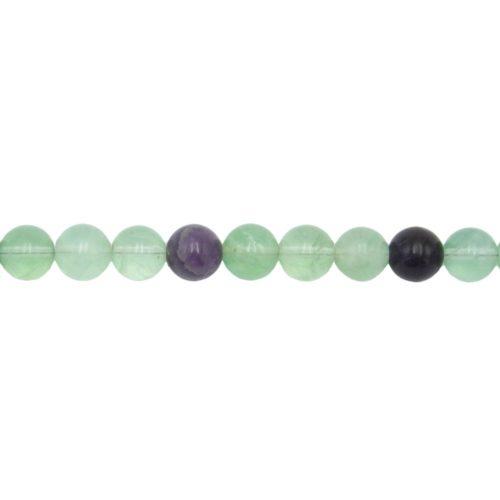 Multicoloured Fluorite Line - 10 mm Bead