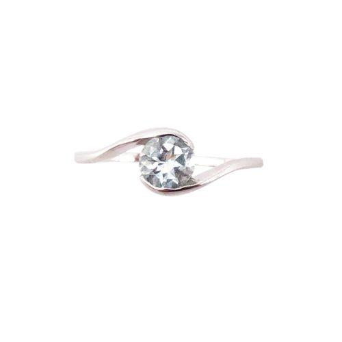 doriane aquamarine 925 silver ring