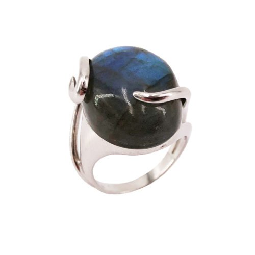 océane labradorite 925 silver ring