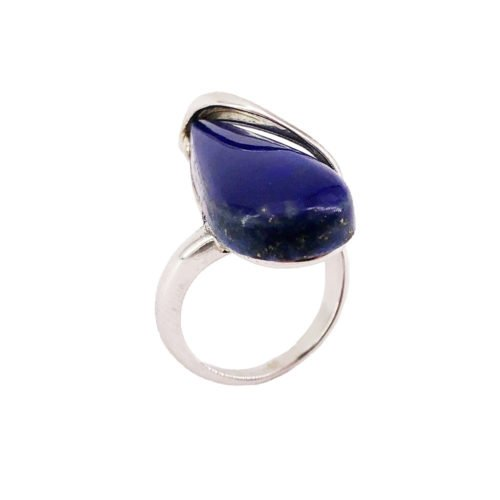 colombe lapis lazuli silver ring