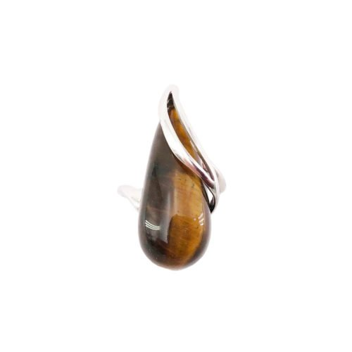 colombe tiger eye 925 silver ring