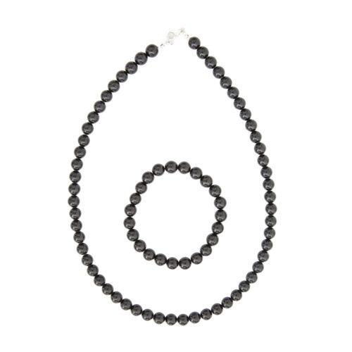 Onyx Jewellery Set - 8mm Stone Beads