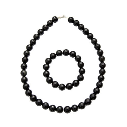 Onyx Jewellery Set - 12mm Stone Beads