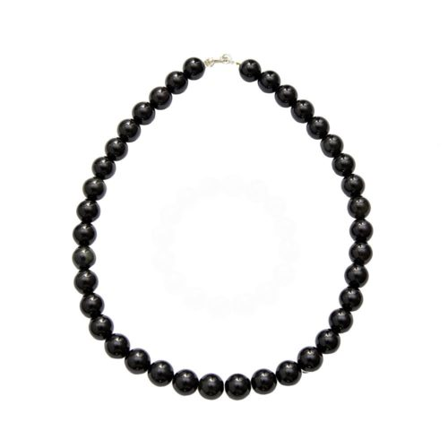 Onyx Necklace - 12 mm Stone Beads
