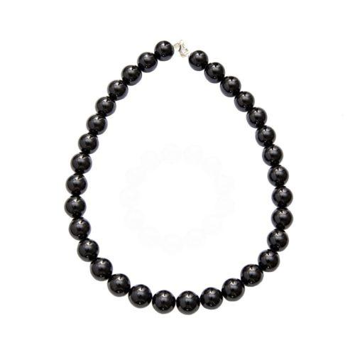 Onyx Necklace - 14 mm Stone Beads