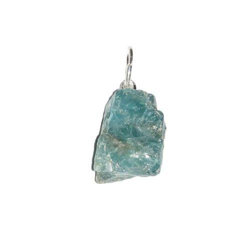 pendentif apatite bleue pierre brute