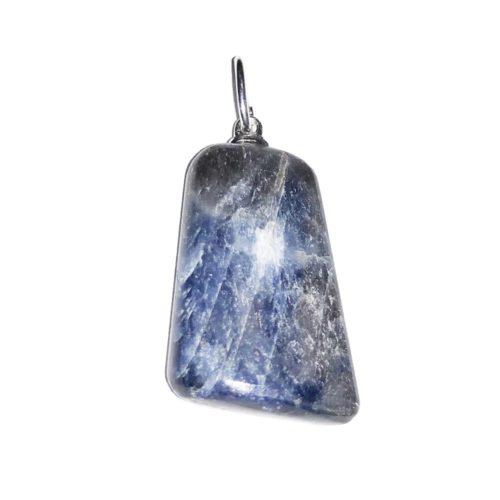 pendentif saphir pierre roulée