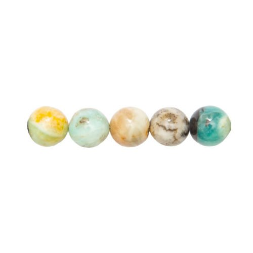 Multicoloured Amazonite Beads 6mm