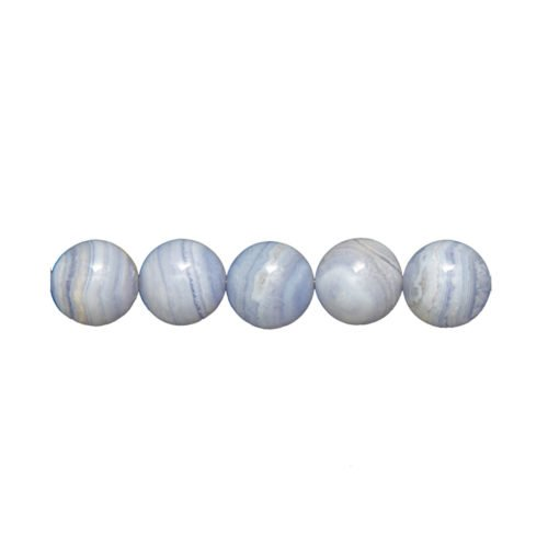 Chalcedony beads – 14 mm