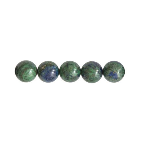 perle ronde chrysocolle 6mm
