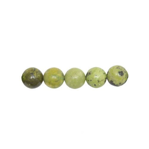 lemon chrysoprase beads 8mm