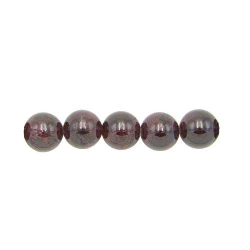 12mm round red garnet bead