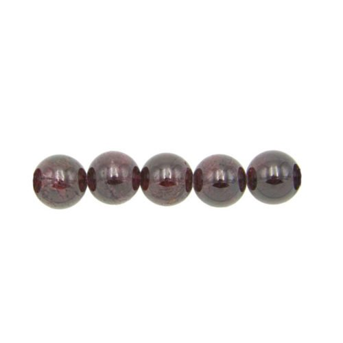 perle ronde grenat rouge 6mm