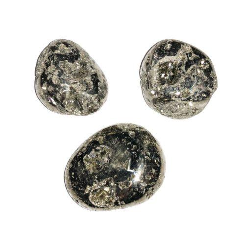 Pyrite tumbled stones