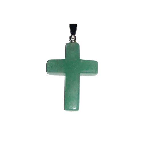 pendentif aventurine croix