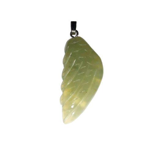 pendentif jade vert aile ange