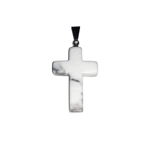 pendentif magnésite croix