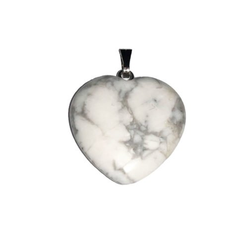 pendentif magnésite coeur