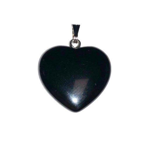 small heart onyx pendant