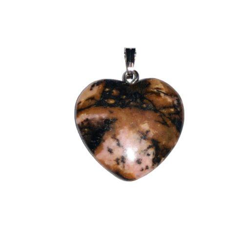 pendentif rhodonite petit coeur