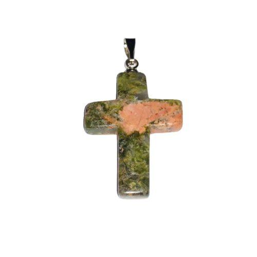unakite-cross-pendant