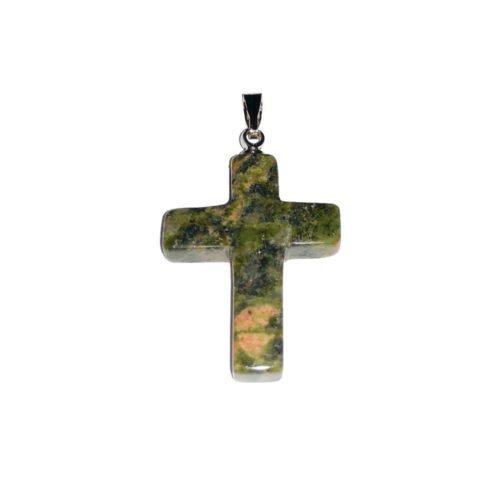 pendentif unakite croix