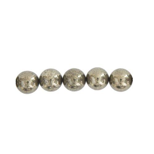 Iron Pyrite Beads 8 mm