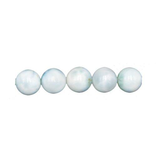 round larimar bead 8mm
